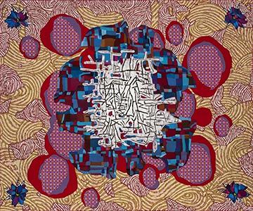 Hamlett Dobbins, Untitled (For N.A.C./J.W./B.I.E./T.), acrylic on canvas, 2020