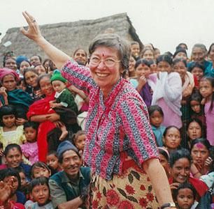 Myrna in the village of Kot Goan in the district of Gorkha, Nepal