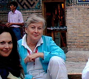 Trudy Kawami in Samarkand